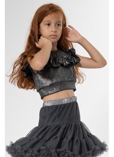 Colorinas Flashy Bluz Siyah Siyah